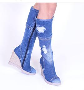 59cacfebd Rifľové čižmy na platforme   Fashionmoda